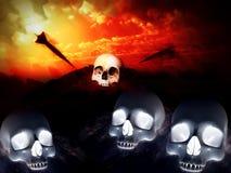Crani 12 di guerra Fotografie Stock