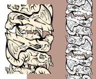 Crani del reticolo dei mostri Fotografia Stock