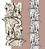Crani del reticolo dei mostri Fotografie Stock Libere da Diritti