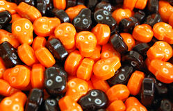 Crani di Halloween Candy Immagini Stock Libere da Diritti