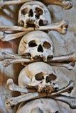 Crani di Sedlec fotografie stock