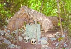 Crani tribali in giungla nell'Yucatan Fotografia Stock