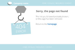 Craning a message about Page not found Error 404 Stock Photography