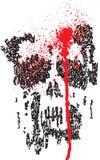 Cranio afflitto dello scarabocchio Fotografia Stock