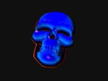 Cranio al neon Fotografia Stock