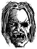 Cranio arrabbiato del mostro Immagini Stock