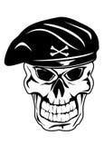 Cranio in berreto Fotografie Stock