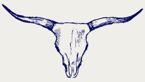 Cranio capo del toro illustrazione vettoriale
