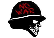 Cranio in casco militare Fotografie Stock Libere da Diritti