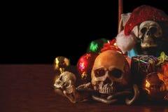 Cranio con i regali per il festival Fotografie Stock