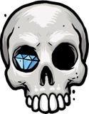 Cranio con il diamante Fotografia Stock