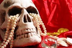 Cranio con il tesoro Fotografia Stock Libera da Diritti