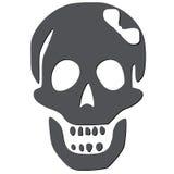 Cranio con l'arco bianco Fotografie Stock Libere da Diritti