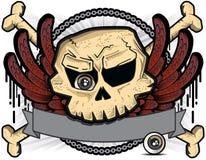 Cranio con l'occhio e le ali Fotografia Stock