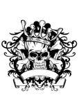 Cranio con la corona Fotografie Stock Libere da Diritti