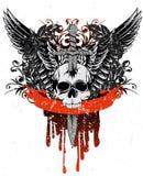 Cranio con le ali Immagine Stock