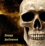 Cranio con priorità bassa spaventosa Fotografia Stock Libera da Diritti