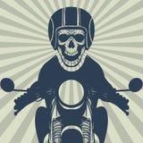 Cranio d'annata del motociclista illustrazione vettoriale