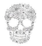 Cranio dai fiori. Immagine Stock