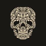 Cranio decorato Immagine Stock