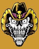Cranio del cowboy Fotografie Stock