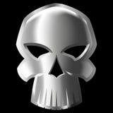 Cranio del metallo Fotografia Stock
