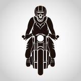Cranio del motociclista illustrazione vettoriale