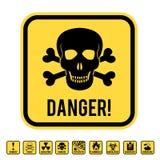 Cranio del pericolo illustrazione di stock