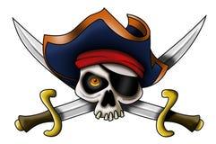 Cranio del pirata Immagini Stock