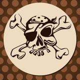 Cranio del pirata Fotografie Stock