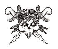 Cranio del pirata di Java immagine stock libera da diritti