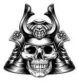 Cranio del samurai illustrazione di stock
