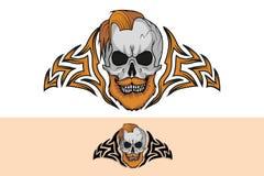 Cranio del tatuaggio illustrazione di stock