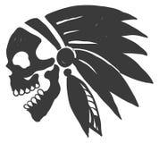 Cranio dell'indiano del tatuaggio Immagine Stock