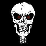 Cranio dell'occhi rossi Fotografie Stock Libere da Diritti