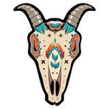 Cranio della capra Immagini Stock Libere da Diritti