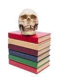 Cranio della persona e del libro Fotografia Stock Libera da Diritti
