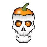 Cranio della zucca di Halloween Immagine Stock