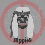 Cranio di hippy illustrazione di stock