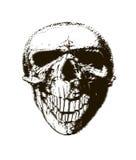Cranio di semitono Elemento di disegno Invito, partito Mosaico, perforazione, lerciume Immagini Stock Libere da Diritti