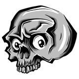 Cranio di vettore del fumetto Tatuaggio del cranio Illustrazione del cranio royalty illustrazione gratis