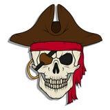 Cranio diabolico del pirata Roger allegro royalty illustrazione gratis