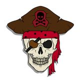 Cranio diabolico del pirata Roger allegro illustrazione vettoriale