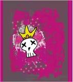 Cranio disegnato a mano di Emo Fotografia Stock