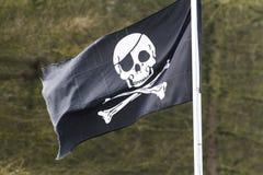 Cranio e bandiera delle ossa dell'incrocio Immagine Stock