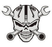 Cranio e chiave di Steampunk Immagini Stock Libere da Diritti