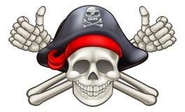 Cranio e crossbones del pirata royalty illustrazione gratis