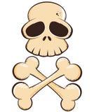 Cranio e fumetto di Crossbones illustrazione di stock
