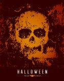 Cranio e pipistrello felici di Halloween sul fondo della superficie ruvida royalty illustrazione gratis
