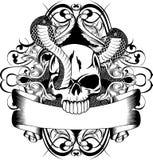 Cranio e serpente due Immagini Stock Libere da Diritti